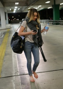 A Dressed Down Lauren Conrad Arrives in Miami