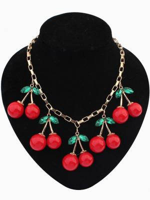 Choies 'Cherry Charm Necklace' ($14)