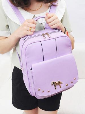 Choies 'Purple Backpack With Alloy Horse Decorate' ($40)