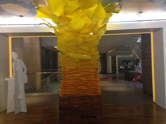 Cheese statue inside Kraft